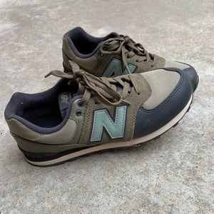 Olive Green 574 New Balance Sneakers